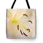 White Lily Square Version Tote Bag
