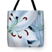 White Lily Triptych Part1 Tote Bag
