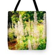 White Lupins Tote Bag