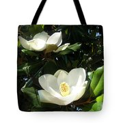 White Magnolia Flowers 01 Tote Bag