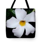 White Mandevilla Tote Bag