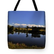 White Mountain Panorama Tote Bag