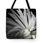 White Mums Tote Bag