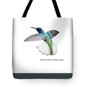 White Necked Jacobin Trinidad Tote Bag