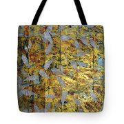 White On Gold Tote Bag
