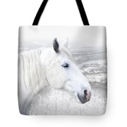 White On White Tote Bag by Michele A Loftus