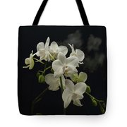 White Orchid And Reflection Tote Bag