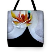 White Orchid Detail Tote Bag
