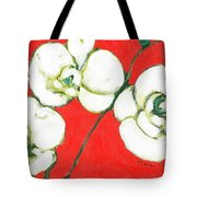 White Orchid Tote Bag by Jennifer Lommers