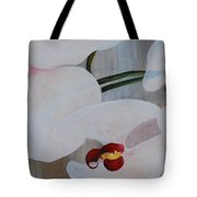 White Orchid Light Background Middle Section Tote Bag