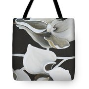 White Orchid Middle Section Tote Bag