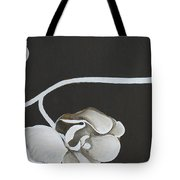 White Orchid Third Section Tote Bag