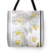 White Orchids Framed Tote Bag