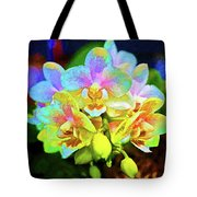 White Orchids Pastel Tote Bag