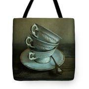White Ornamented Teacups Tote Bag