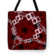 White Over Red Tote Bag