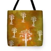 White Palms Gold Tote Bag