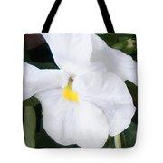 White Pansy Tote Bag