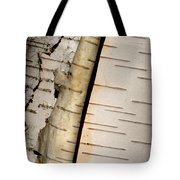 White Paper Birch Tree Bark Tote Bag