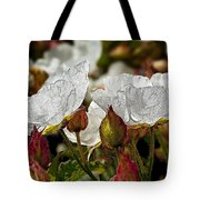 White Paper Petals Tote Bag