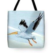 White Pelican 1 Roger Bansemer Tote Bag