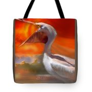 White Pelican Tote Bag