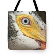 White Pelican Eye Tote Bag