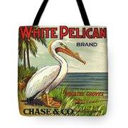 White Pelican Fruit Crate Label C. 1920 Tote Bag
