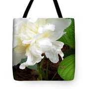 White Peonia Tote Bag