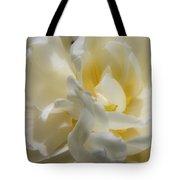 White Peony Tulip Detail Tote Bag