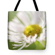 White Petal Flower Abstract Tote Bag