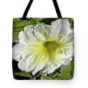 White Petunia - Solanaceae Tote Bag