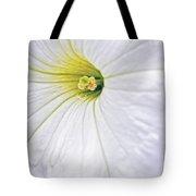 White Petunia Wall Art Tote Bag