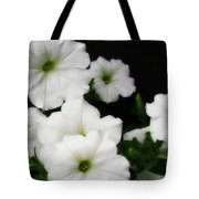 White Petunias Tote Bag