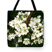White Plum Blossoms Tote Bag