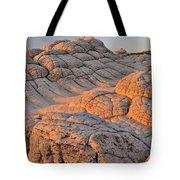 White Pockets Brain Rock Sunrise Tote Bag