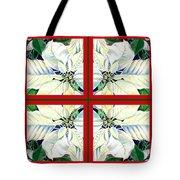 White Poinsettia Quartet Tote Bag