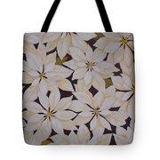 white Poinsettias Tote Bag