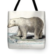 White Polar Bear On Ice Floe Tote Bag