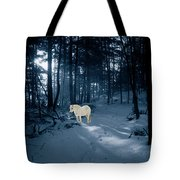 Spirit Pony In A Blue Wood Tote Bag