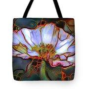 White Poppy Flower Tote Bag