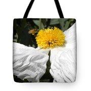 White Poppy Tote Bag
