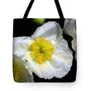 White Poppy Trio Photograph Tote Bag