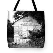 White Post Tote Bag