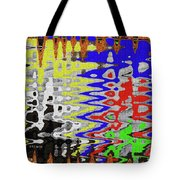 White Prickly Poppy Flower Color Abstract Tote Bag