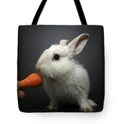 White Rabbit  Tote Bag by Yedidya yos mizrachi
