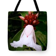 White Rainforest Flower Tote Bag