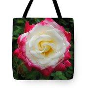 White Red Rose Tote Bag