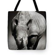 White Rhinoceros  In Due-tone Tote Bag
