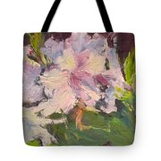 White Rhodedendrons Tote Bag